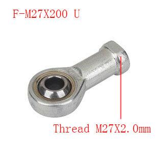 Free shipping 1pcs F-M27X200U internal Female thread Fisheye rod end joint bearing,Universal joint;Thread M27X2.0mm 30mm bore female metric threaded high quality internal thread rod end joint bearing free shipping