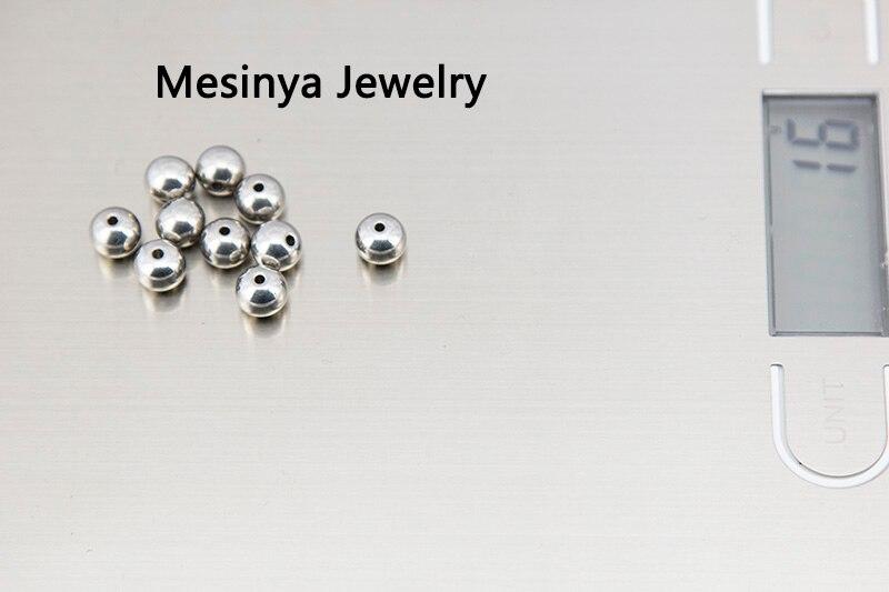 Блестящая блестящая нержавеющая сталь 316L Высокая полировка 8 мм Шариковые бусины подходят для браслета ожерелье Рождественский подарок