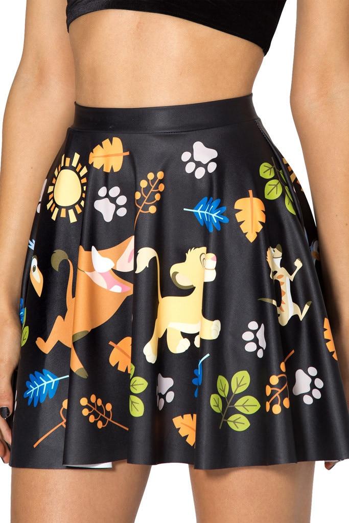 ab273c372fc 1019 Summer Women Plus Size Pleated Mini Skater Skirt Sexy Girl Cheerleader  TuTu Skirt Hakuna Matata