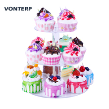 VONTERP 1PC Transparent Round 3 /4/5/6/7Tier Acrylic Cupcake Display Stand/Acrylic cake stand /acrylic holder