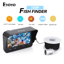 Eyoyo 30M 720P Fish Finder Underwater Camera for fishing Night Vision Ice Fishing Camera 6 Infrared LED 4.3 Inch LCD Monitor