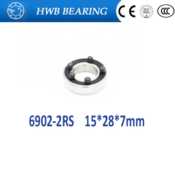 Free shipping <font><b>6902</b></font>-2RS (10PCS) 15x28x7MM Metric Thin Section Bearings 61902RS <font><b>6902</b></font> <font><b>RS</b></font> bike hub part image