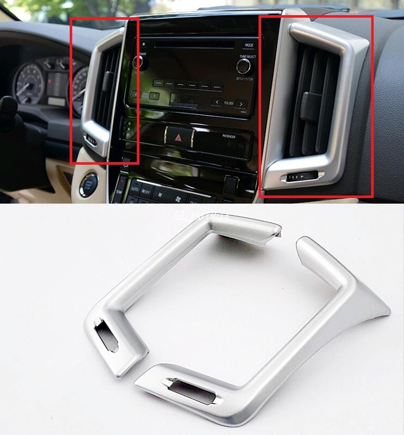 ABS Middle Console Air Condition Vent Cover Trim for Toyota <font><b>Land</b></font> <font><b>Cruiser</b></font> <font><b>LC200</b></font> 2016 <font><b>2017</b></font> image