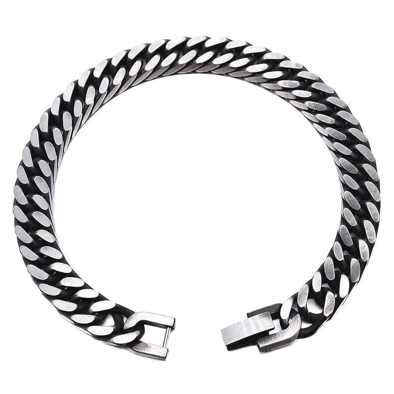 GOKADIMA 2018 nieuwe stijl antieke afgewerkte roestvrijstalen ketting - Mode-sieraden - Foto 5