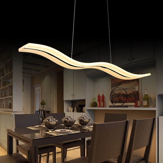 WW LED Pendant Lights Modern Kitchen Acrylic Suspension Hanging - Dinner table ceiling light