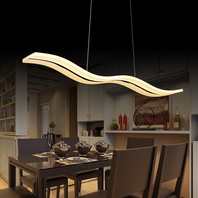 Led Lampes Suspendues Moderne Cuisine Acrylique Suspension Suspendus