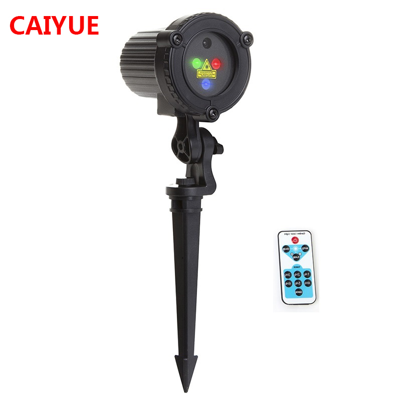 RGB Christmas Laser Projector Remote Static Star Lights Garden Outdoor Decoration Waterproof Xmas Holiday Shower Lawn Lighting alien remote red green static christmas outdoor waterproof star laser projector garden xmas tree holiday lawn shower lighting