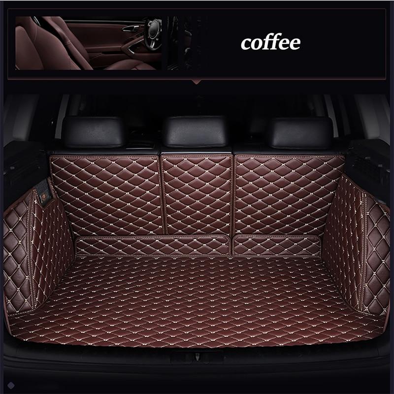 Leather car trunk mat for Honda Accord FIT CITY CR V XR V Odyssey Element Pilot