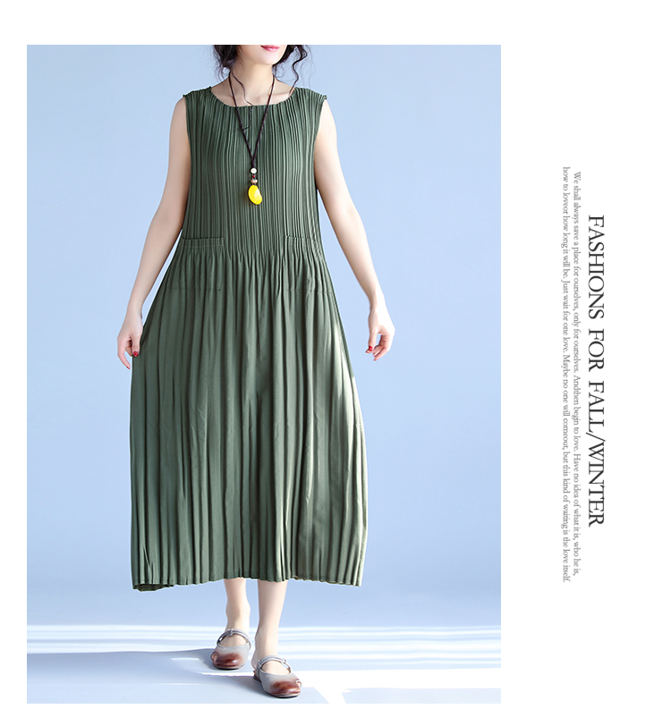 BelineRosa Women's Summer Dresses 17 Pure Color Casual Women Draped Dress Sleeveless Plus Size Dresses for Women QY00001 9
