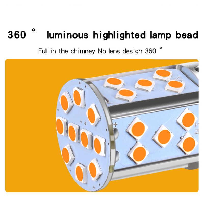 T20 7440 W21W żarówka Led 3030 35Smd Canbus lampa Led do samochodów Turn Signal Lights bursztynowe oświetlenie 12V 24V