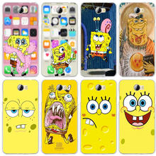 Lembut Silicone TPU Mobile Phone Case untuk Huawei P8 P9 P10 P20 P30 Honor 7 7X 7A 9 10 Mate 10 Pro Lite Smart Shell Gila SpongeBob(China)