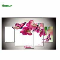 HOMLIF Home Beauty 3d Diy Full Diamond Painting Embroidery Kits Crystal Rhinestone Picture Diamond Flowers