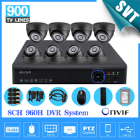 CCTV 8 Channel 960h Dvr 900TVL IR Cut Camera Kit 1tb Hdd HDMI 1080P NVR HVR