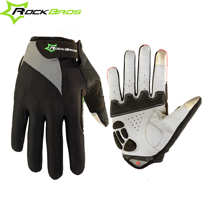 ROCKBROS Bicycle font b Gloves b font Touch Screen Non Slip Breathable Cycling Bicicleta Cycle Full