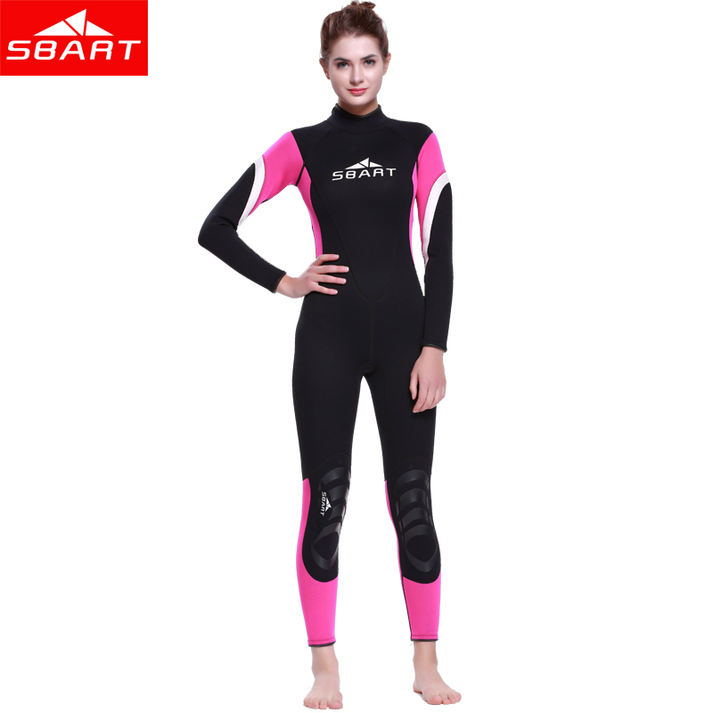 SBART Lovers 3mm Neoprene Wetsuit Men Women Swimming Scuba Dving One-Piece Long Sleeve Keep Warm Jumpsuit Diving Suit sbart upf50 806 xuancai
