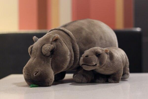 12 hipopotamos eretos realistas brinquedos animais de pelucia hipopotamo macio da vida real brinquedo de pelucia