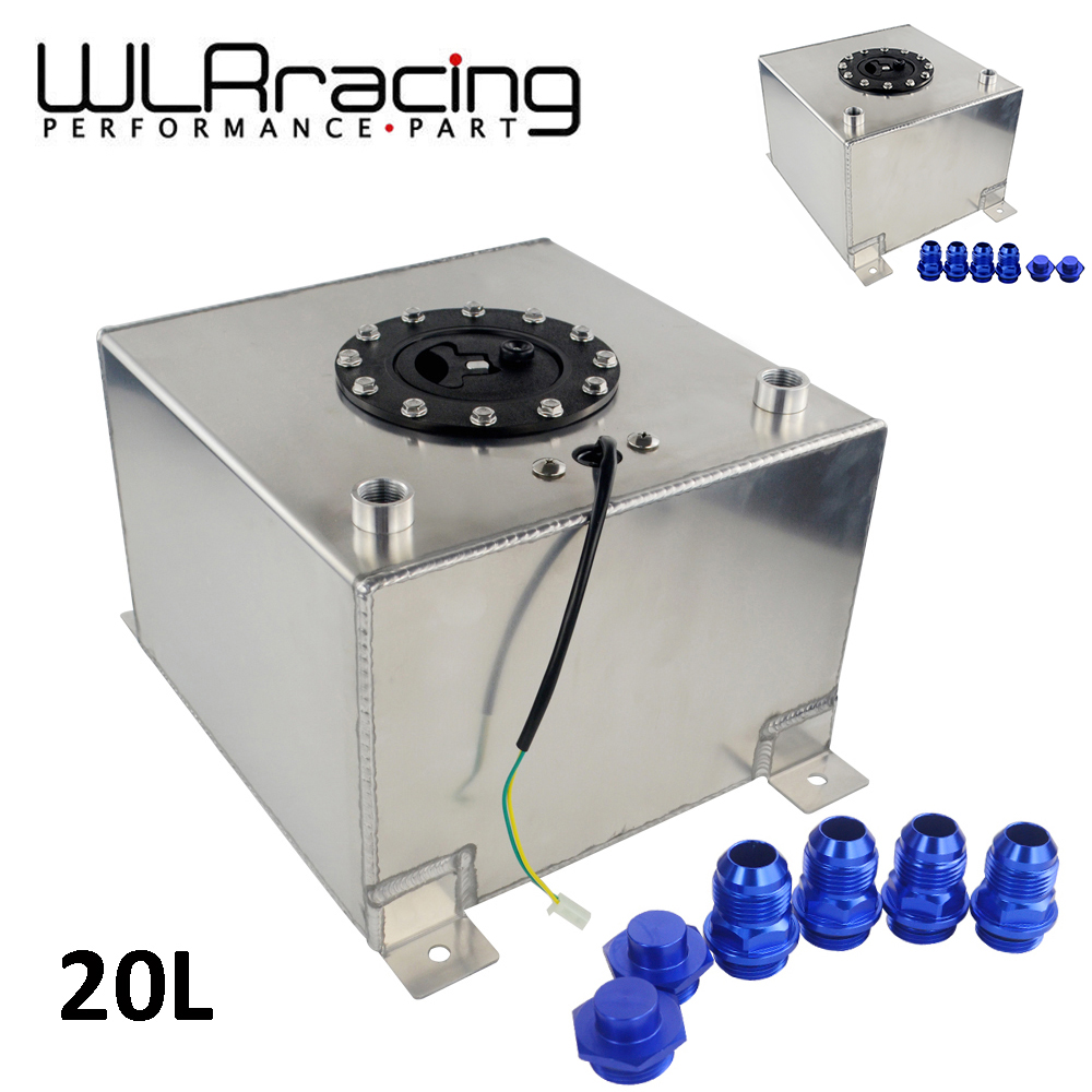 New Type Silver 5 Gallon 20L Aluminium Fuel Surge tank Fuel cell with sensor foam or without sensor  WLR-TK39S