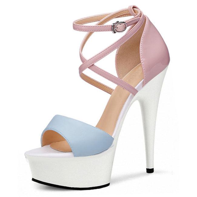 Femmes Sexy Peep Gladiateur Cm Orteils Talons Romain 15 À Sandales 03 01 Hauts Chaussures qrI8rg