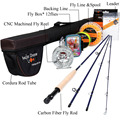 Angler Dream Fly Fishing Kits 2.7M Fly Fishing Rods 5/6 CNC-machined Aluminum Fly Reel with Fishing Lures and Lines Rod Combo