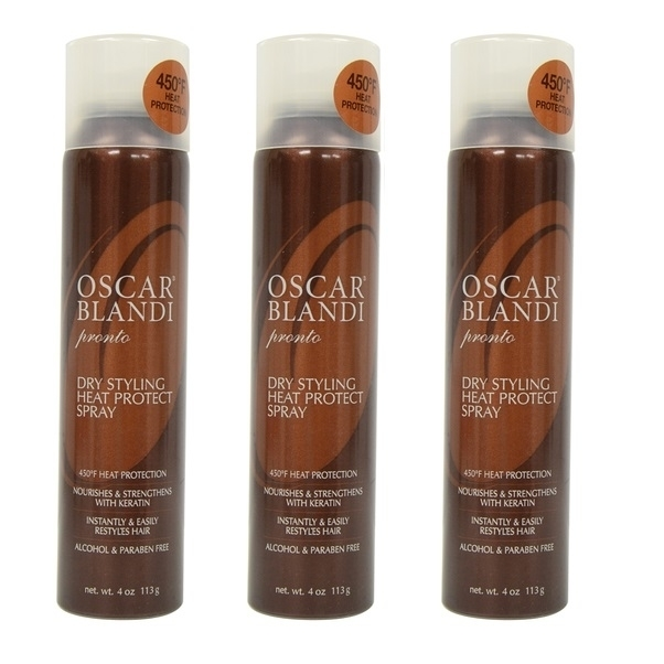 Oscar Blandi Pronto Dry Styling Heat Protect Spray, 4 Oz (Pack of 3) oscar blandi oscar blandi os003lucdz11