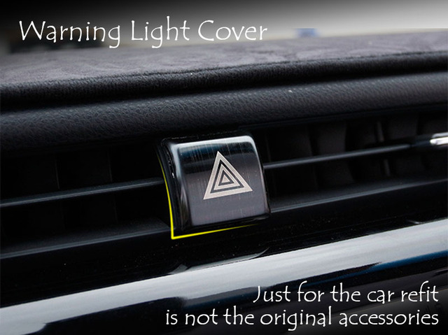 US $4 11 17% OFF Car Refit Dashboard Dash Warning Light Alert Push Button  Door Lock Switch Trim Ring Cover For Toyota Camry 2017 2018 XV70 -in