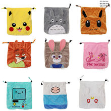 Anime Pocket Monster /Sailor Moon/Totoro/Zootopia etc Jewelry/Cell Phone Drawstring Pouch/Wedding Party Gift Bag (DRAPH_Variety)(China)
