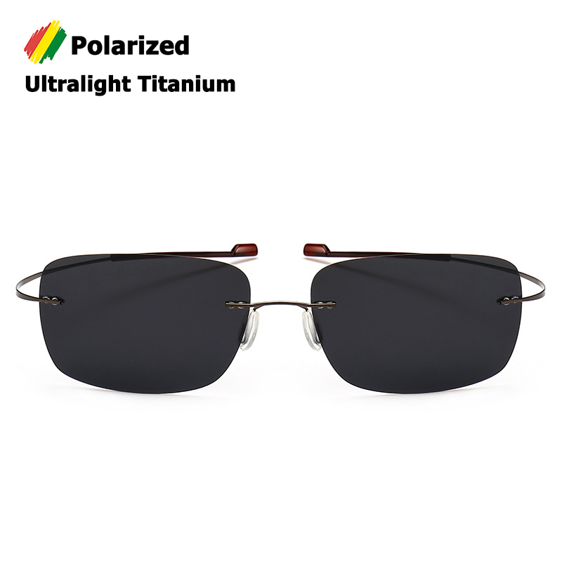 JackJad 2020 Fashion Rimless Square Titanium POLARIZED Sunglasses Men Ultralight Driving Brand Design Sun Glasses Oculos De Sol