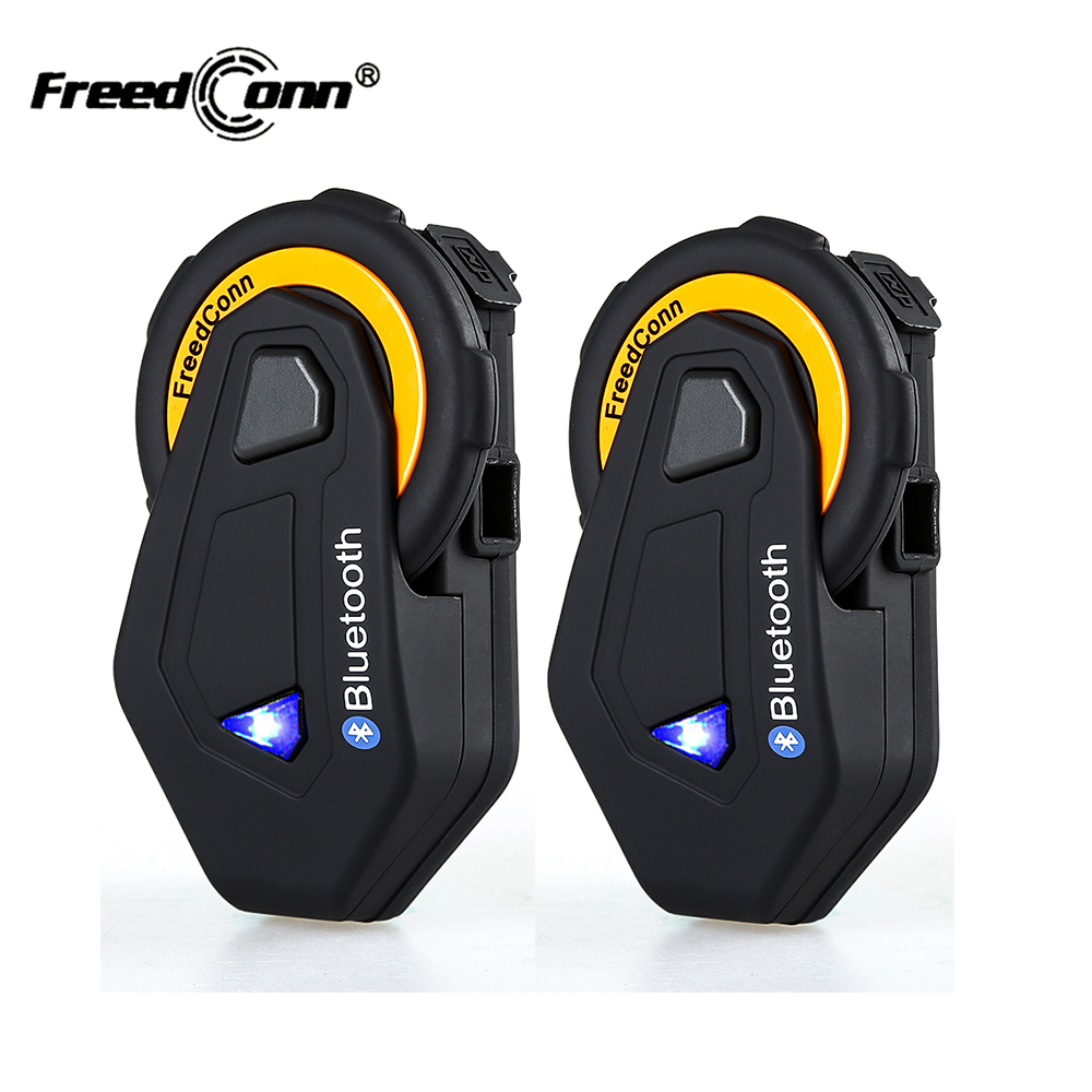 2 pcs D'origine FreedConn T-MAX Bluetooth Interphone Casque IP65 Étanche Moto Moto Casque Interphone FM Radio 1500 m