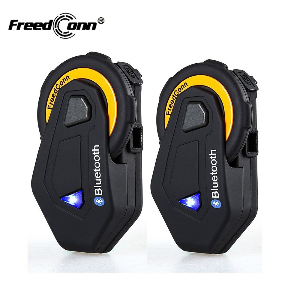 2 pcs D'origine FreedConn T-MAX Bluetooth Interphone Casque IP65 Étanche Moto Moto Casque Interphone FM Radio 1500 m