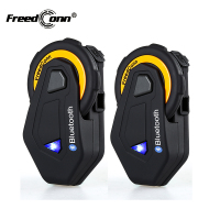 2Pcs Original FreedConn T MAX Bluetooth Interphone Headset IP65 Waterproof Motorcycle Motorbike Helmet Intercom FM Radio 1500M
