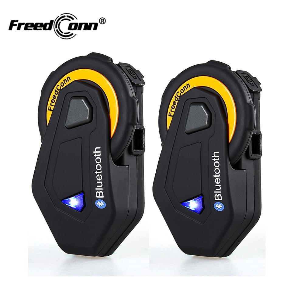 2Pcs Original FreedConn T MAX Bluetooth Interphone Headset IP65 Waterproof Motorcycle Motorbike Helmet Intercom FM Radio 1500M