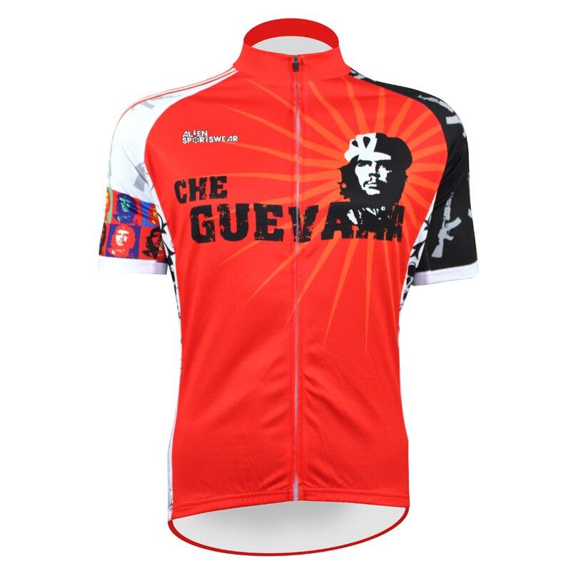Nové Red Pioneers Che Guevara Alien SportsDear Pánské Cyklistické dresy Cyklistické oblečení Cyklistické košile Velikost 2XS AŽ 5XL