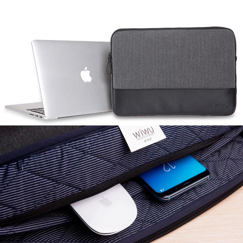 Futerały na walizki WIWU do Macbook 13 Skórzane etui na notebook - Akcesoria do laptopów - Zdjęcie 4