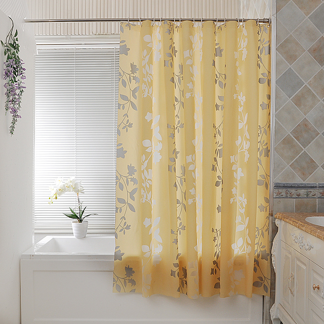 Kingart Home Customized Curtain Hotel Hook Or Double Pleated Waterproof  Bathroom Shower Curtain