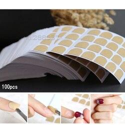 3 قطعة 5 قطعة 100 قطعة سهلة الاستخدام كاذبة الأظافر ملصقات الوجهين ملصقات الغراء وهمية مسمار الشريط واضح