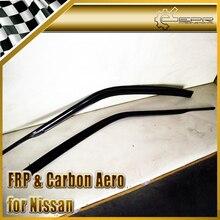 ЭПР Стайлинга Автомобилей Углеродного Волокна Ветер Дефлектор Приюты Рычаг Для Nissan Skyline R33 GTR GTS