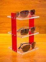 Tabletop Sunglasses Display Stand Eyewear Storage Rack Glass Showcase