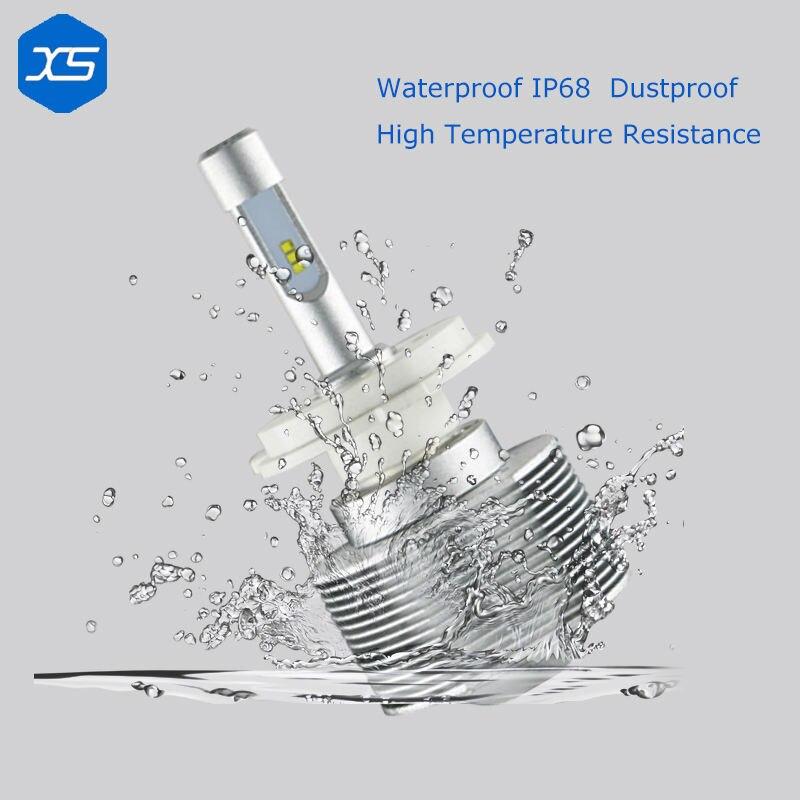 ФОТО Universal 12v 30w 4000lm 6000k H1 H3 H7 H11 9005 9006 9012 Single Light Small Led Headlights Waterproof, 9006 Led Bulb
