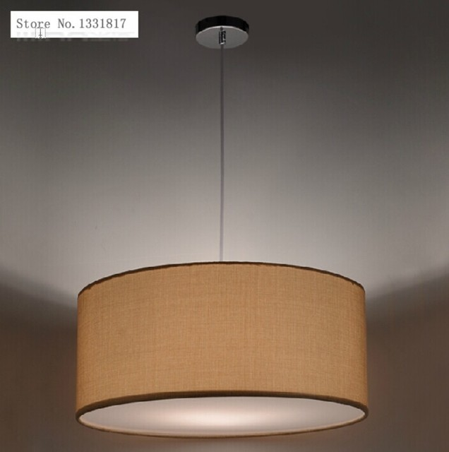 Nordic fabric lampshade modern pendant light fixture living room and  bedroom decor 110-240v E27