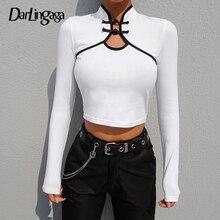 Y Top Envío Sleeved Crop Compra Del Disfruta Long White Button wqxYxUES