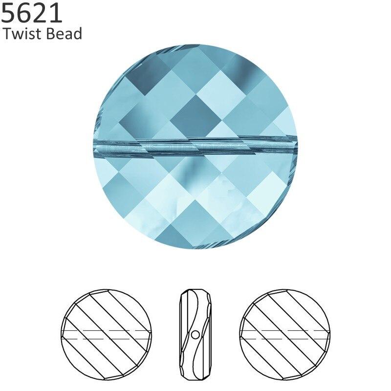 (1 Stück) 100% Original Kristall Von Swarovski 5621 Twist Perle In Österreich Lose Perlen Strass Für Diy Schmuck Machen