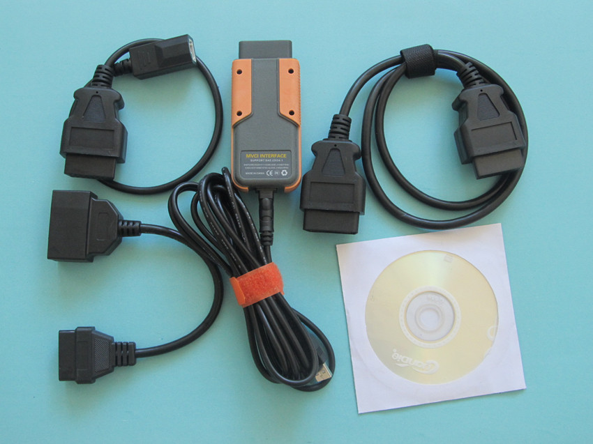 Xhorse Mvci For To-y-oty Mvci For Honda Hds For Volvo 3 In 1 Diagnostic Tool Usb Interface All Cables Software Newest V10.10.028