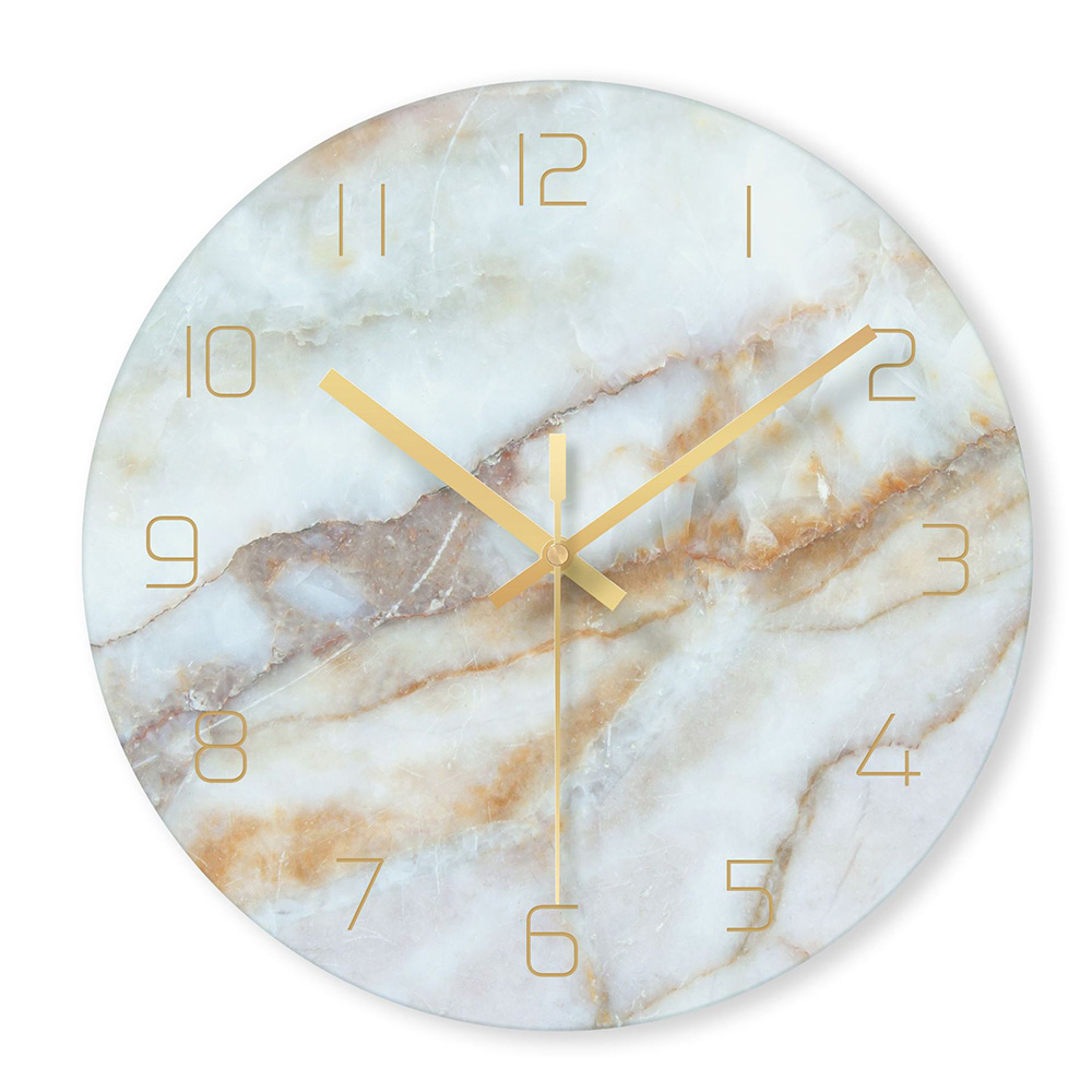 1 Pcs Nordic Marble Wall Clock Modern Minimalist Bedroom Art Clocks Personality Creative Living Room Fashion Wall Watch