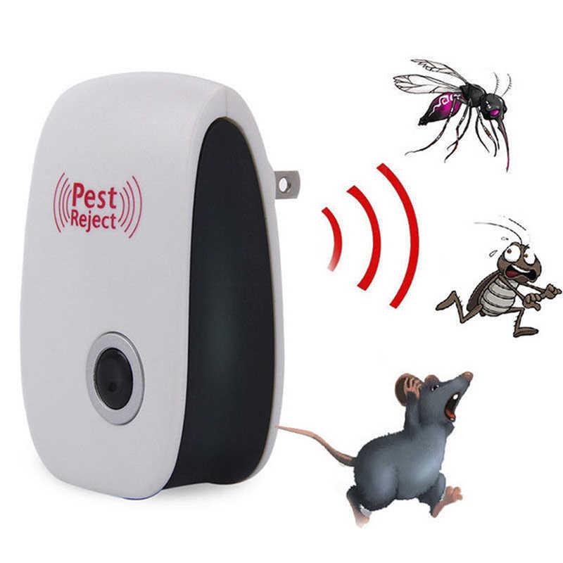 Anti Tikus Serangga Mole Tikus Kecoa dan Tikus Dropship Hama Kontrol Ultrasonic Pest Repeller Nyamuk Elektronik