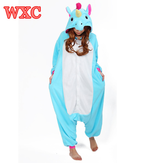 Unisex Unicorn Pigiama Adulto Costume Cosplay Animal Onesies Donna 1gWWpq