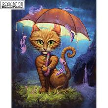 Алмазная вышитая кошка 5d diy картина Стразы мозаика квадратное