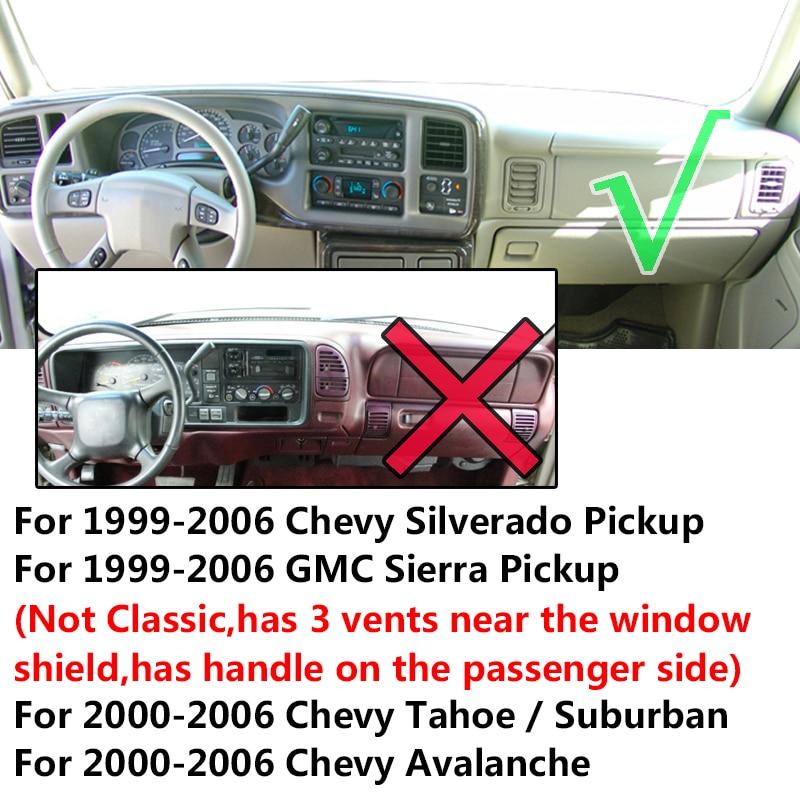 2000-2006 CHEVROLET SUBURBAN  DASH COVER MAT  black