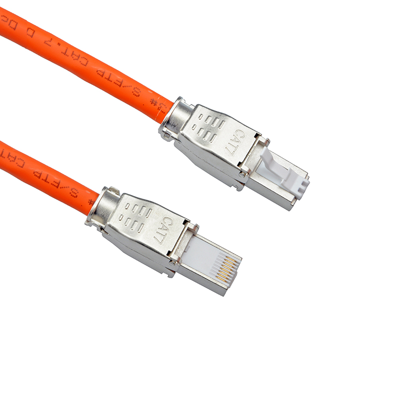 Launched New - RJ45 8P8C STP Shielded Field Connector - RJ45 Termination Plug for Cat.6/6A/7 23AWG Solid Installation Cable