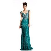 Hunter Pailletten Abendkleider Elegante Gatsby Kleid mit Kristall Nixe-abschlussball Neue Jahr Formale Partykleider Lange Vestidos