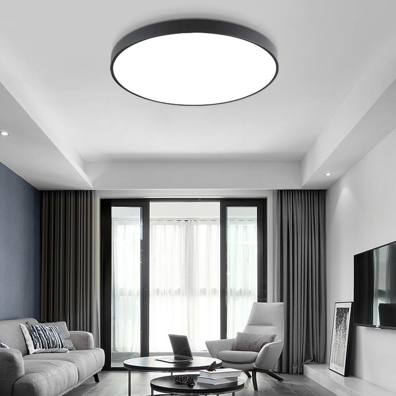 HTB1DOsEluSSBuNjy0Flq6zBpVXab LED Ceiling Light Modern Lamp Living Room Lighting Fixture Bedroom Kitchen Surface Mount Flush Panel Remote Control